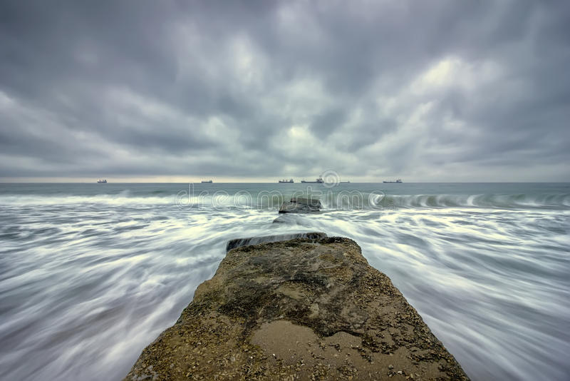 Long exposure seascape royalty free stock photography