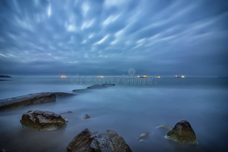 Long exposure seascape stock images