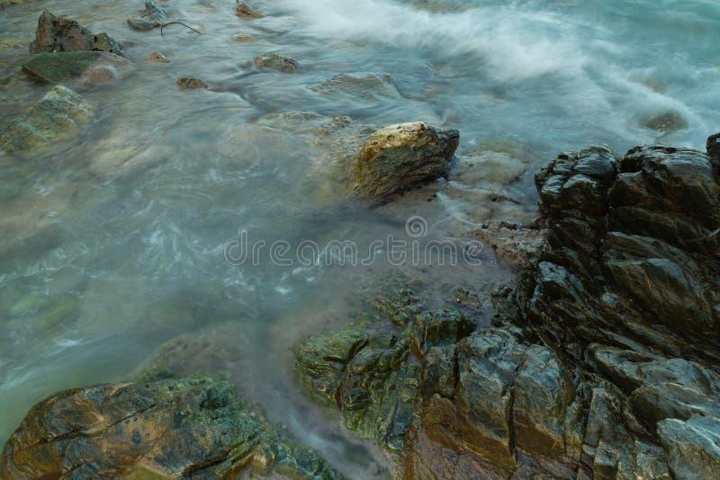 Long exposure seashore using tripod royalty free stock photo