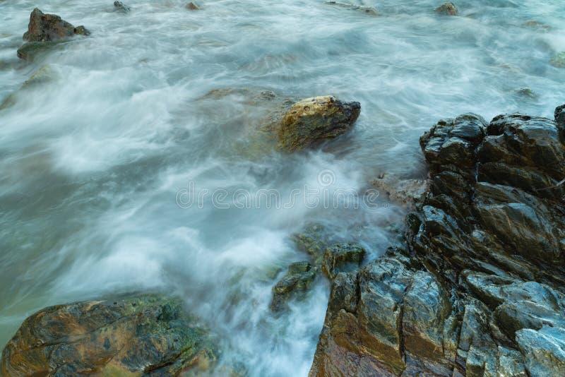 Long exposure seashore using tripod stock photo