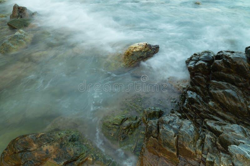 Long exposure seashore using tripod stock photos