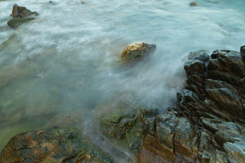 Long exposure seashore using tripod royalty free stock photos