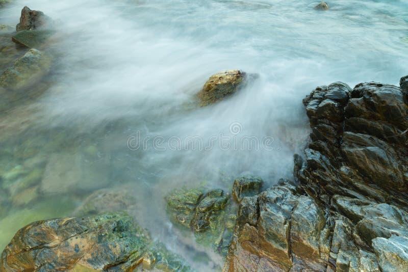 Long exposure seashore using tripod royalty free stock image