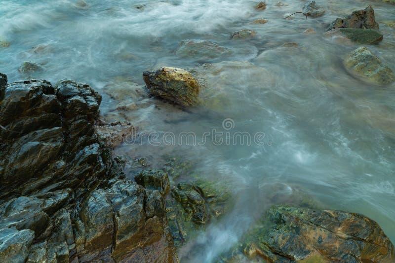 Long exposure seashore using tripod royalty free stock photography