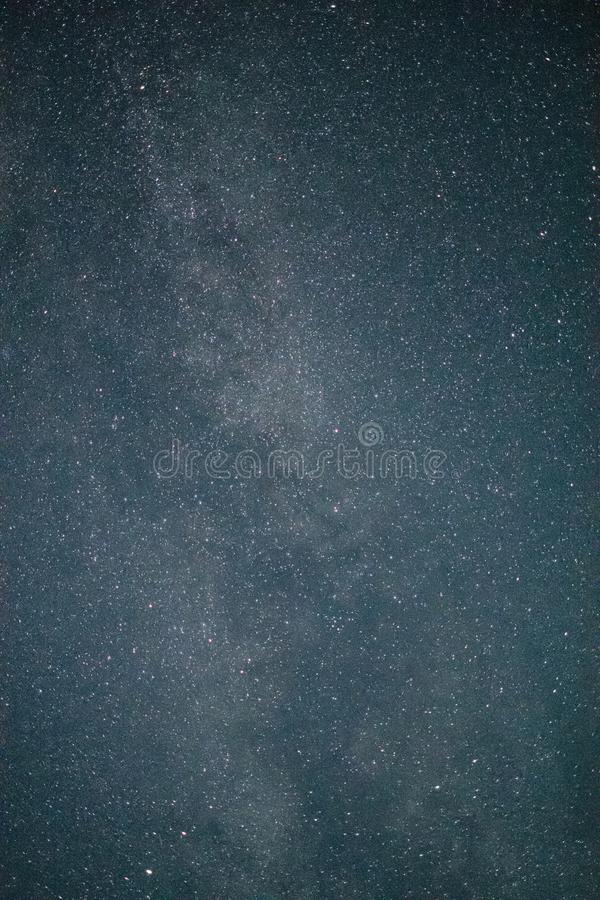 The Milky Way. A long exposure shot featuring the `Milky Way` and its dust cloud royalty free stock image