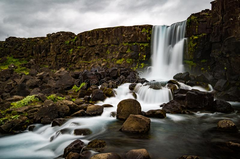Waterfalls In Iceland stock photography