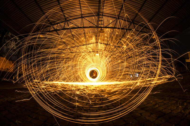 Long Exposure Of Sparks Free Public Domain Cc0 Image