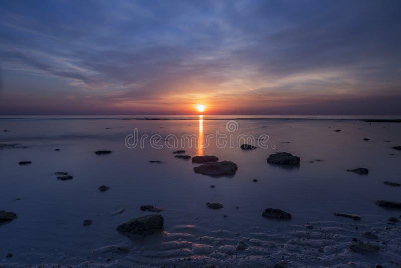 Long exposure sunrise stock image