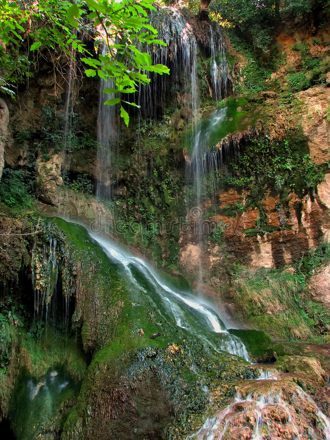 Long exposure waterfall stock image