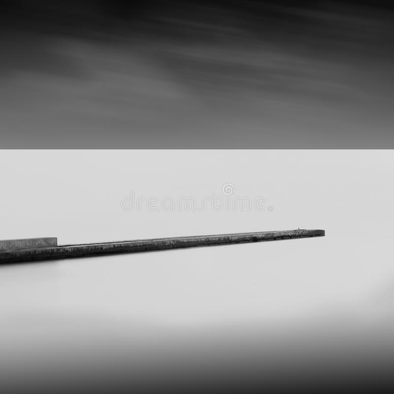 Long exposure wavecutter royalty free stock photo
