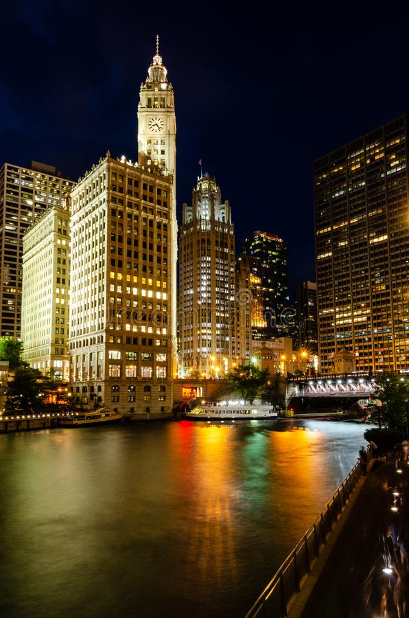 Wrigley Building, Chicago stock photography