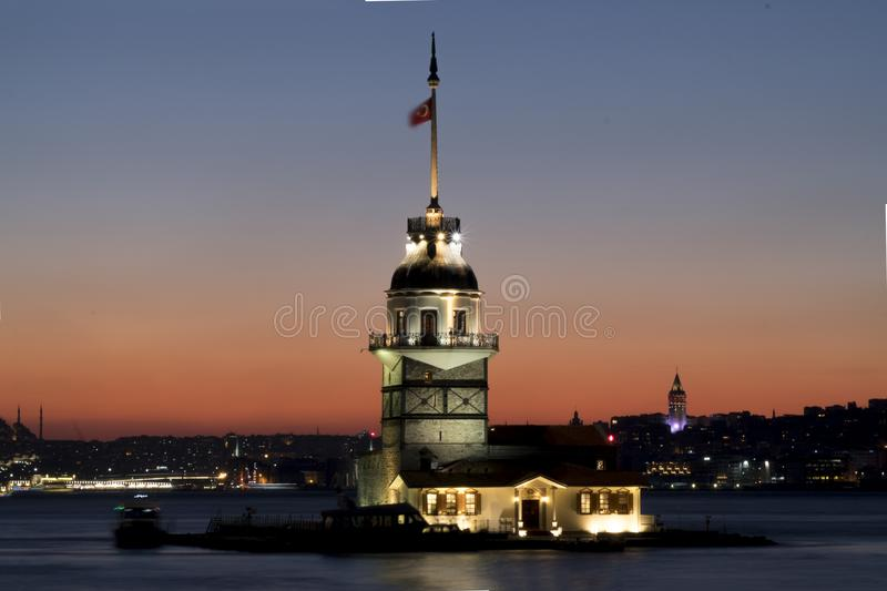 The maiden`s tower royalty free stock photo