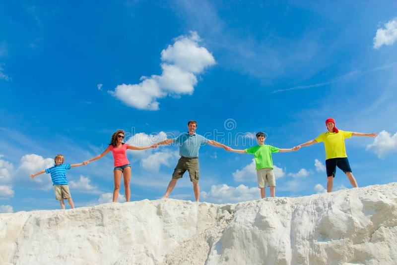 Long family royalty free stock images