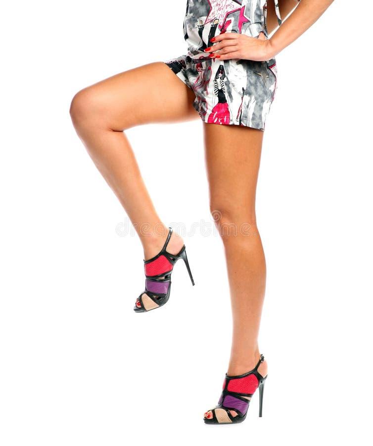 Free Long Female Legs Isolated White Background Stock Photo - 24940020