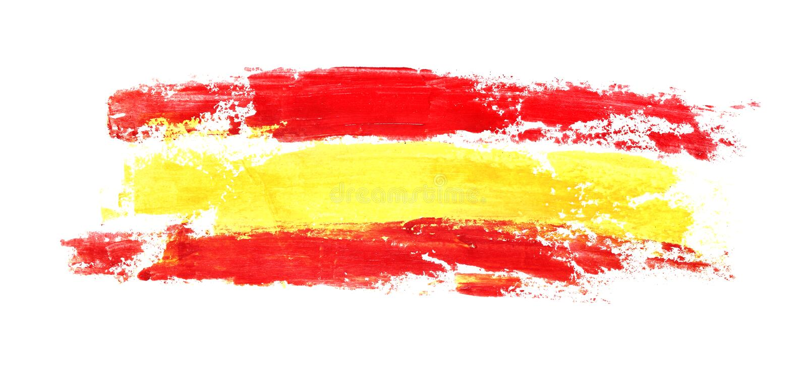 Long flag of Spain vector illustration