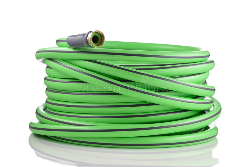 Download Long Garden Hose Rolled Up Isolated On White Stock Photo   Image  Of Heavy