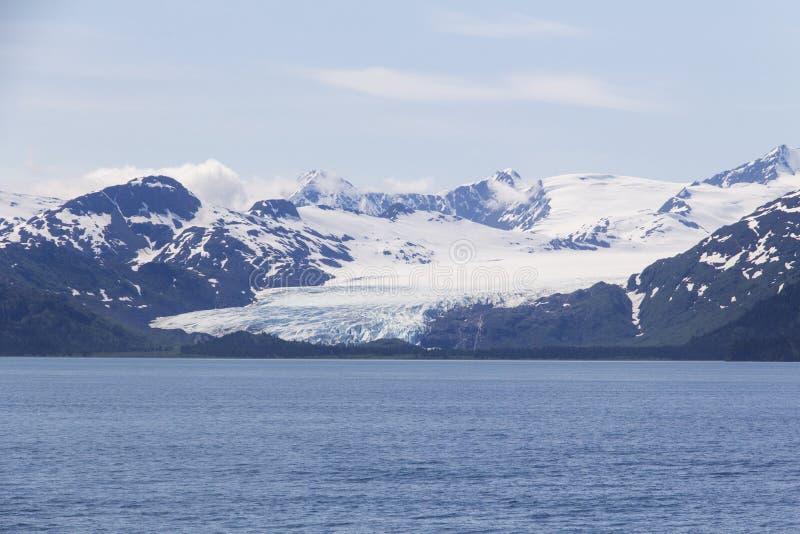 Long glacier dans le fjord de Kenai photo stock