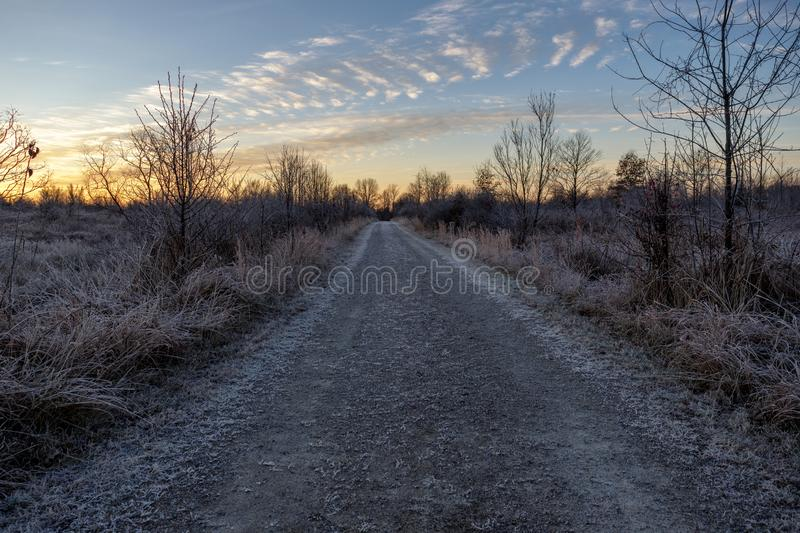 Country Road to Nowhere royalty free stock photo