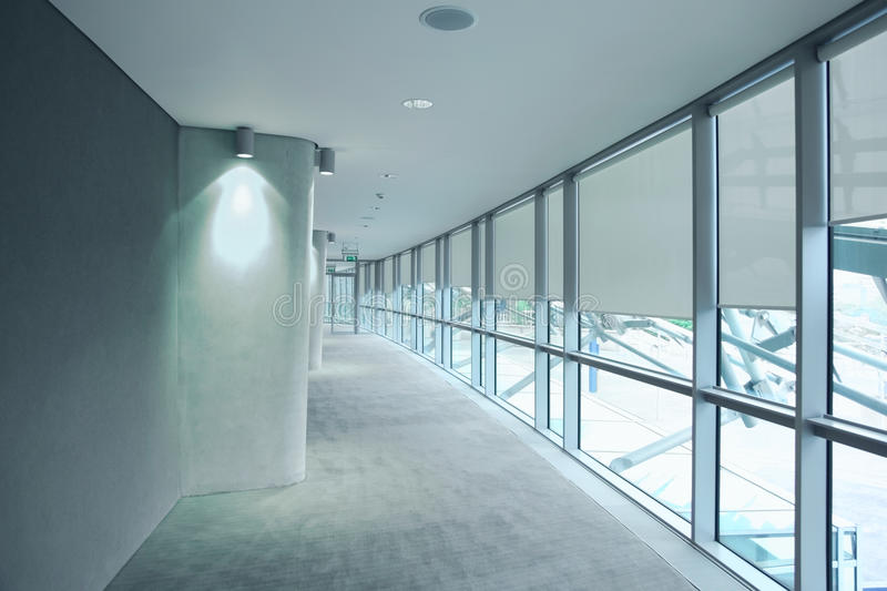 Long Gray Hallway In An Stadium Aviva Editorial Photography