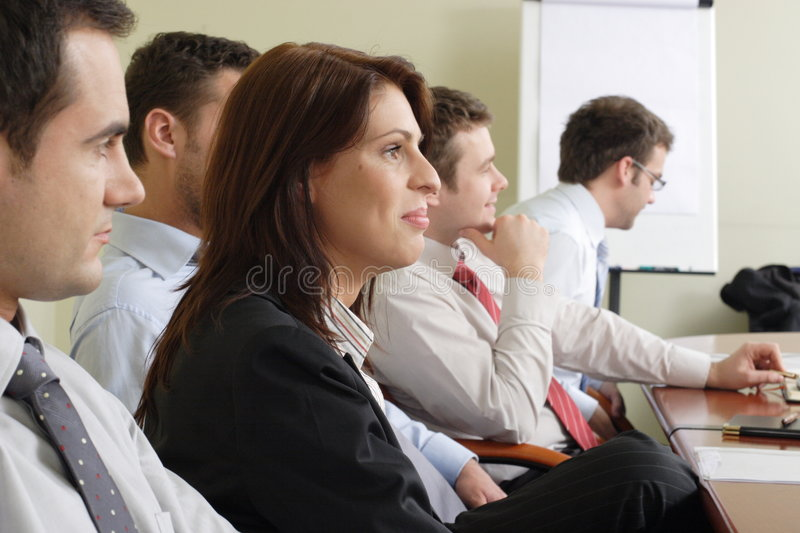 Long group working hours royalty free stock image