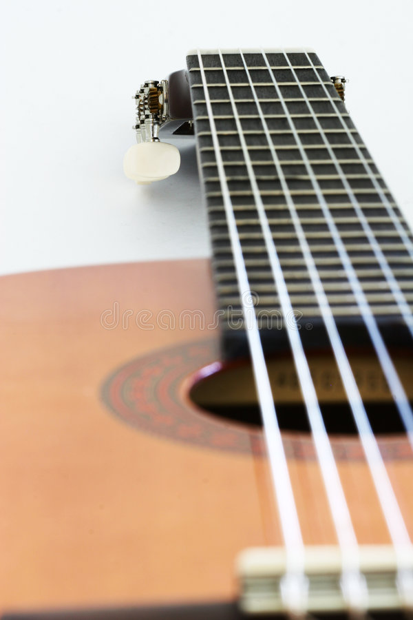Download Long Guitar Neck stock image. Image of notes, melody, string - 549195