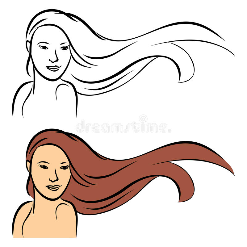 Download Long hair stock vector. Image of head, fashion, beauty - 26418978