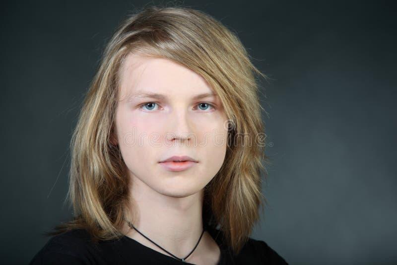 Hair Photos Boy Download: Long Hair Boy In Photo Studio Stock Image