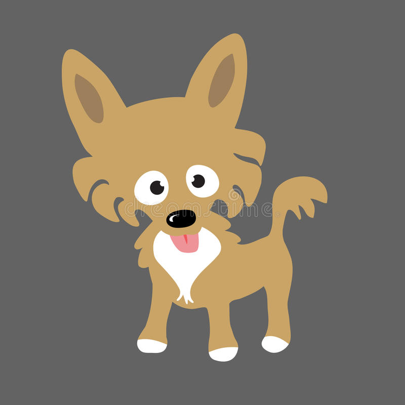 Long Hair Chihuahua. An illustration of a Long Hair Chihuahua dog vector illustration