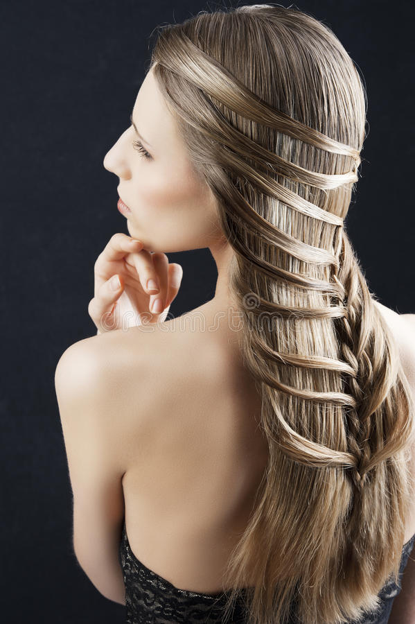 Long hair and fashion hairstyle, stock images