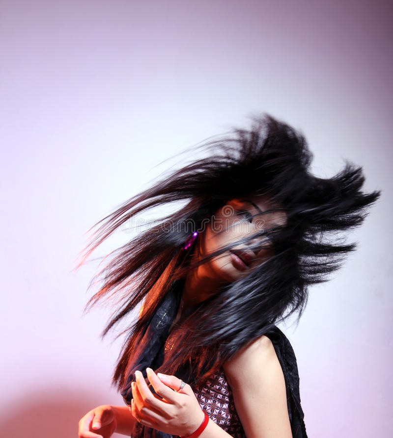 Download Long hair woman stock image. Image of style, long, black - 15350007