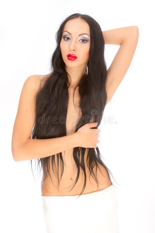 Download Long-haired beaut stock photo. Image of human, fashion - 25570276