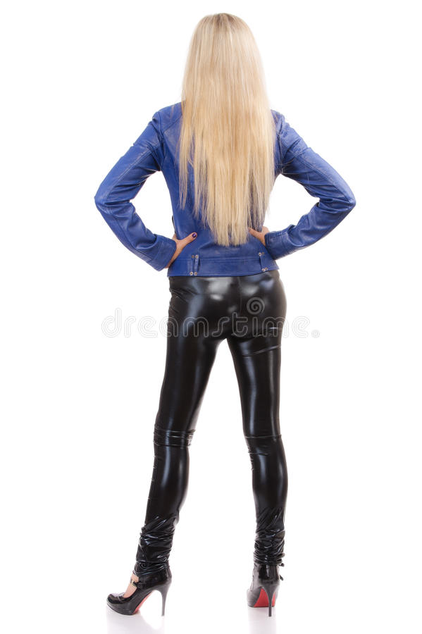 Download Long-haired Blonde From Back Stock Photo - Image: 14046426