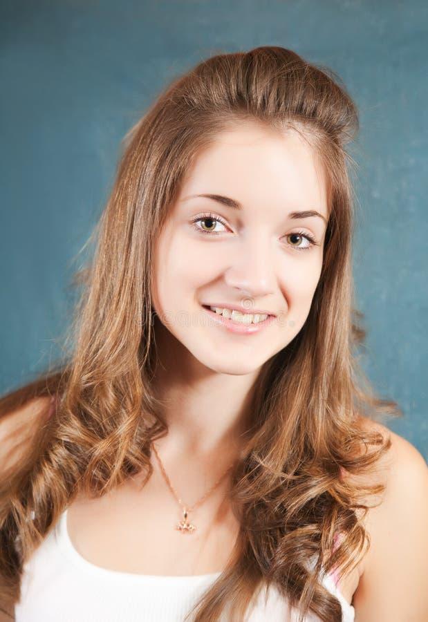 Long-haired girl stock image