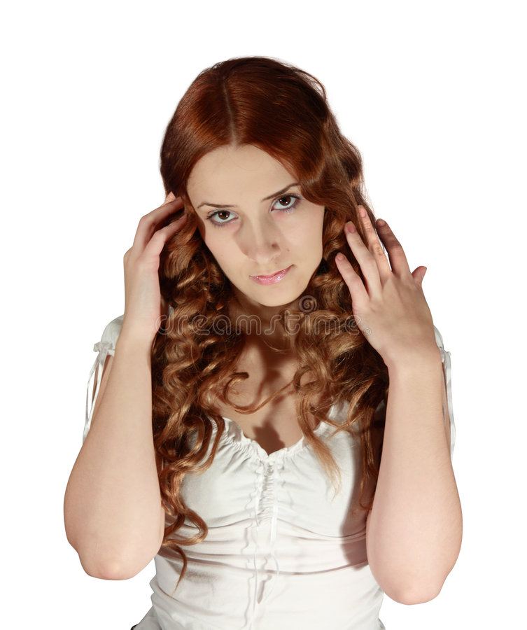 Download Long-haired girl stock image. Image of background, lady - 7164917