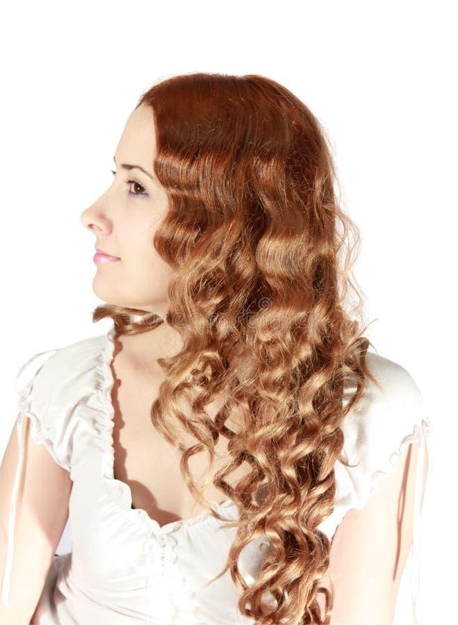Long-haired girl stock photo
