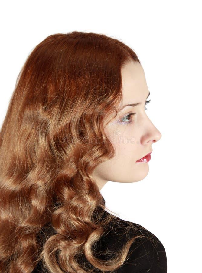 Long haired girl stock image