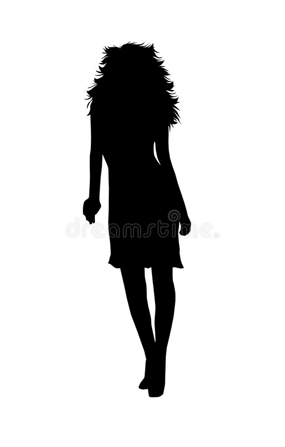 Free Long Haired Woman Silhouette Royalty Free Stock Images - 8922309