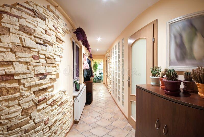 Long hallway stock image