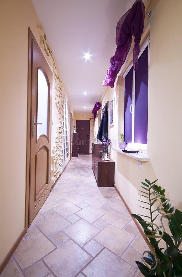 Long hallway royalty free stock photography