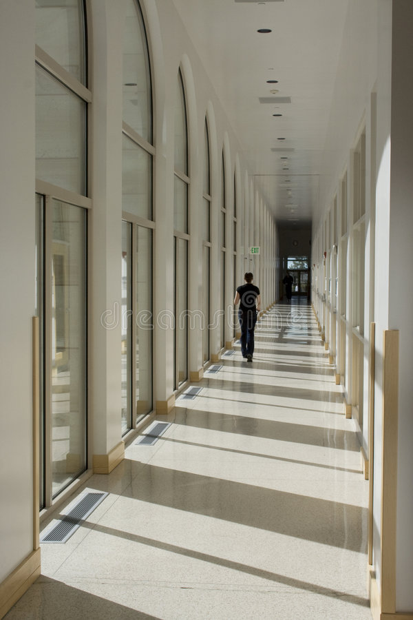 Long Hallway Corridor royalty free stock image