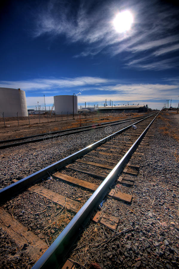 Download The long haul ahead stock photo. Image of railroad, blue - 11043148