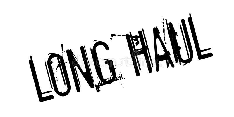 Long Haul rubber stamp. Grunge design with dust scratches. Effects can be easily removed for a clean, crisp look. Color is easily changed vector illustration
