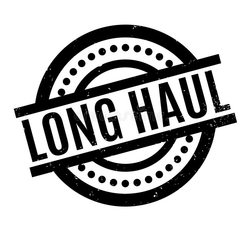 Long Haul rubber stamp. Grunge design with dust scratches. Effects can be easily removed for a clean, crisp look. Color is easily changed stock illustration