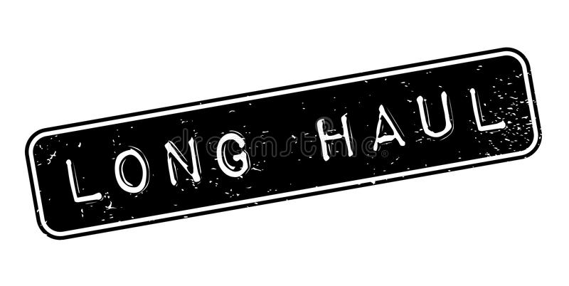 Long Haul rubber stamp. Grunge design with dust scratches. Effects can be easily removed for a clean, crisp look. Color is easily changed royalty free illustration