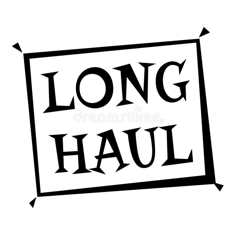 LONG HAUL stamp on white. Stamps and advertisement labels series royalty free illustration