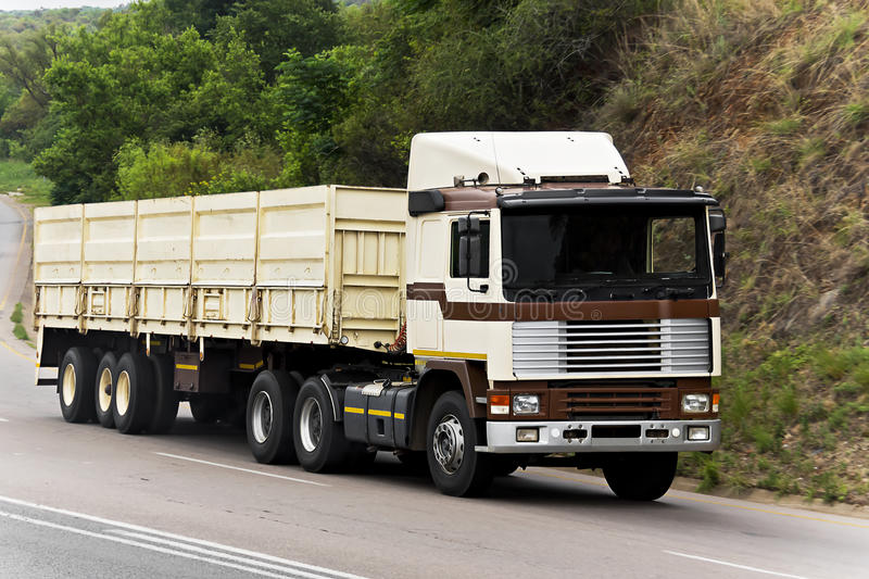Long Haul Transport - Oversized Goods in Transit. Cross country transportation, of heavy goods. A major industry in many lands with long distances between stock images