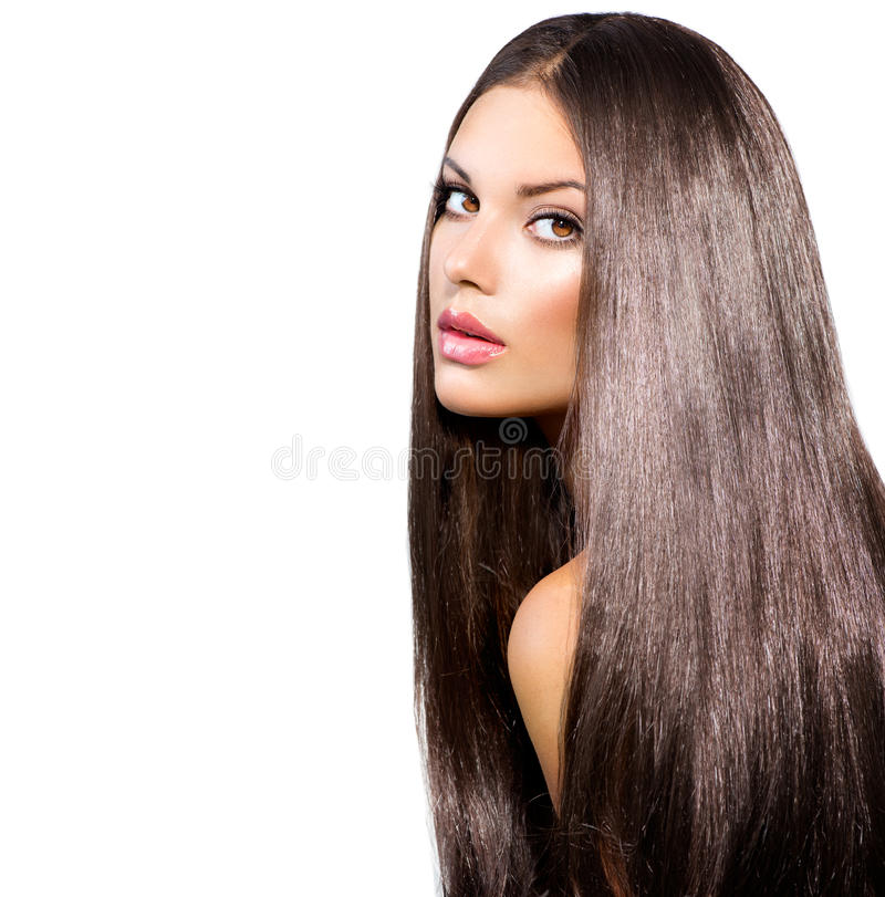 Download Long Healthy Straight Hair stock image. Image of luxury - 33041397