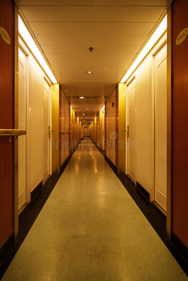 Download Long hotel hallway stock photo. Image of long, entrance - 33200450