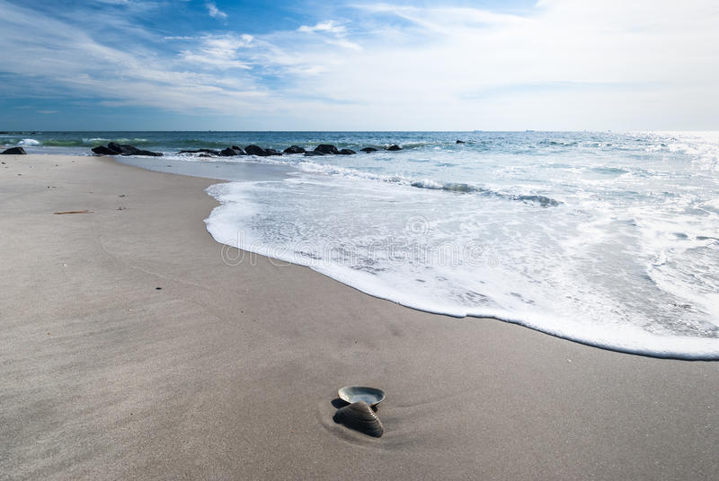 Long Island beach in November. Sunny day on Long Island beach in November stock image