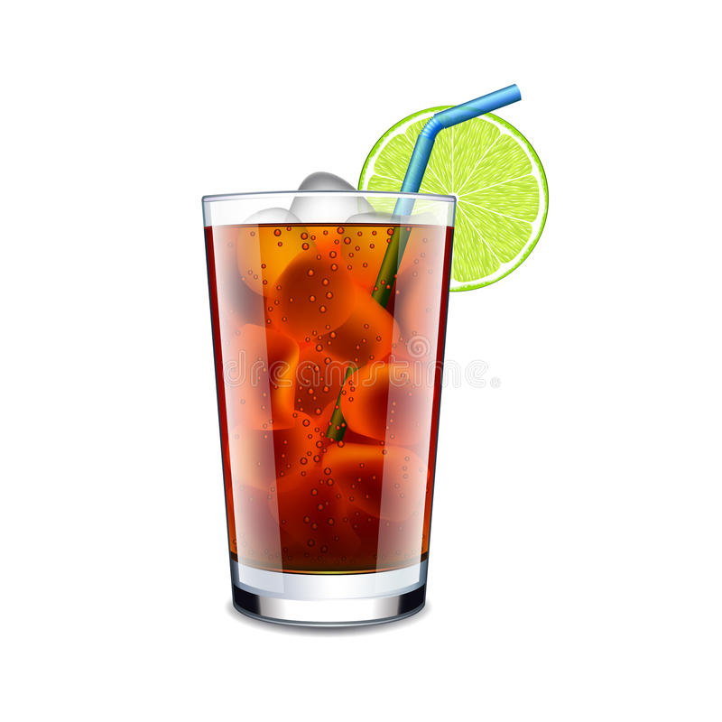 Long island cocktail on white vector. Long island cocktail on white photo-realistic vector illustration vector illustration